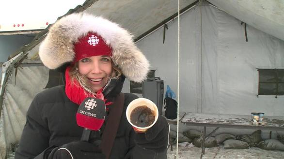 Frozen coffee in Labrador
