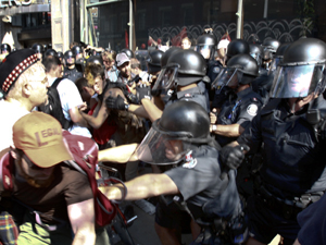G20 Summit riotpoliceconfront TVA QMI